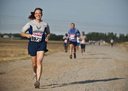 Women running a race.