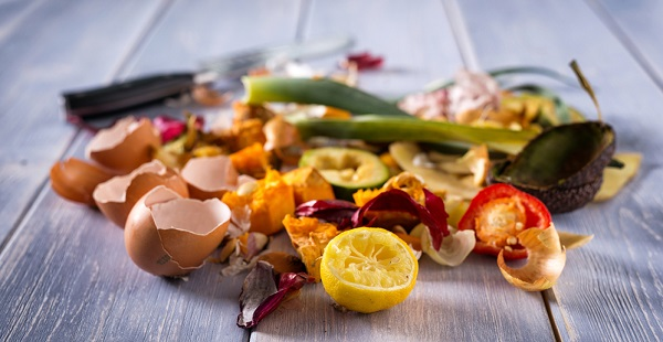 vegetable and fruit scraps
