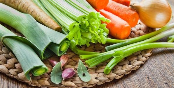 carrots, celery, garlic